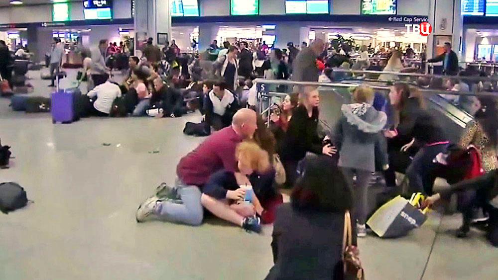 Паника на вокзале в США