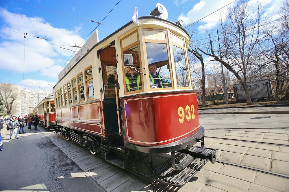 Парад ретро-трамваев
