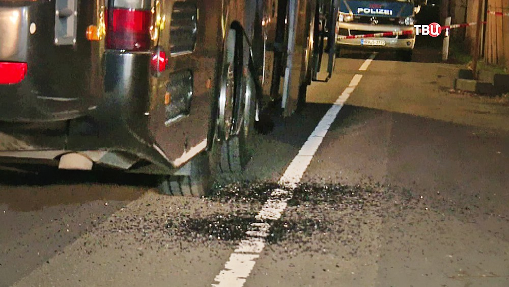 Последствия взрыва в Дортмунде