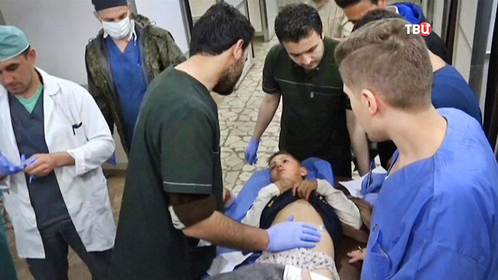 Пострадавшие от теракта в Сирии