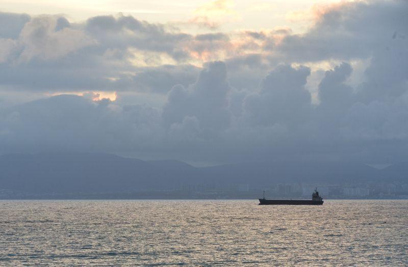 Сухогруз в Черном море