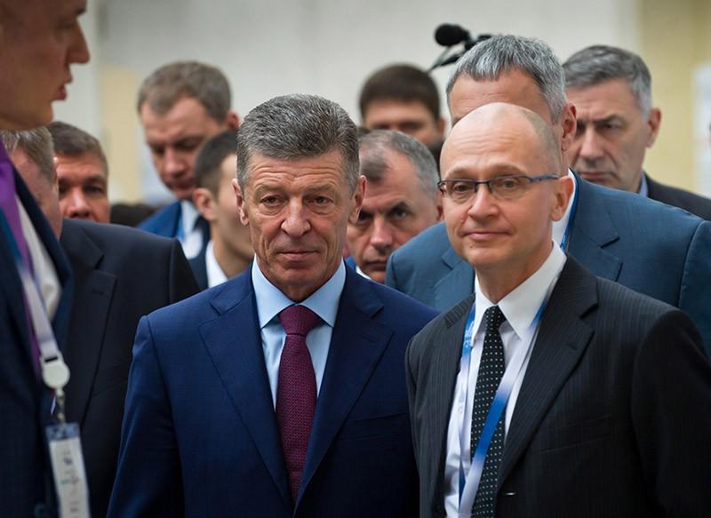 Дмитрий Козак и Сергей Кириенко (слева направо)