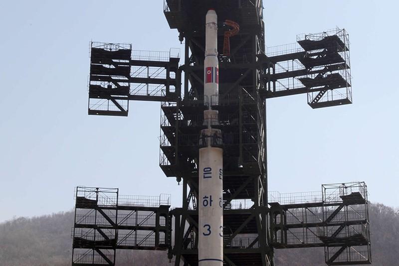 Ракета КНДР на стартовой площадке