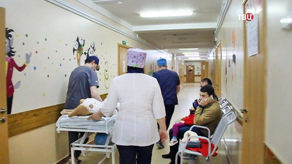 Коридор детской больницы