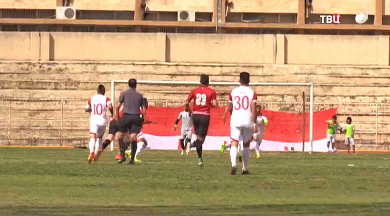 Футбольной матч премьер-лиги в Сирии
