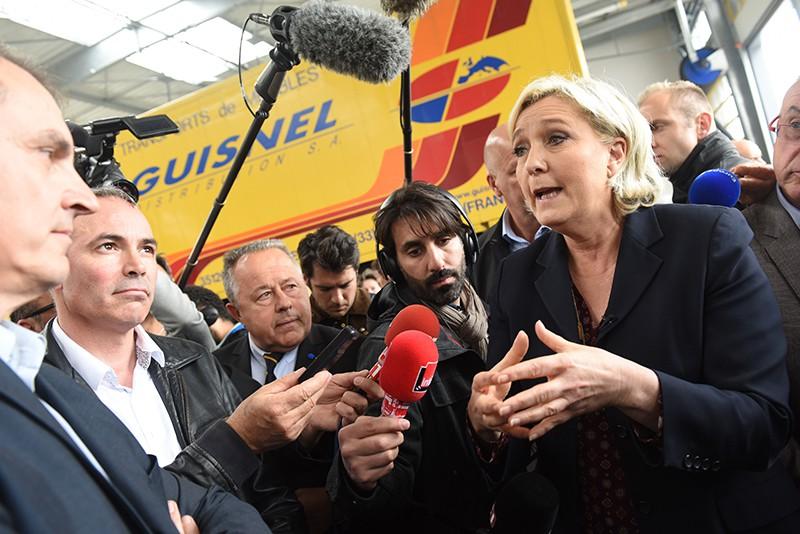 Кандидат в президенты Франции Марин Ле Рен