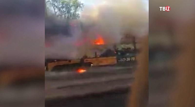 Пожар в трамвае