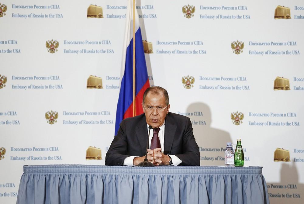 Сергей Лавров на пресс-конференции