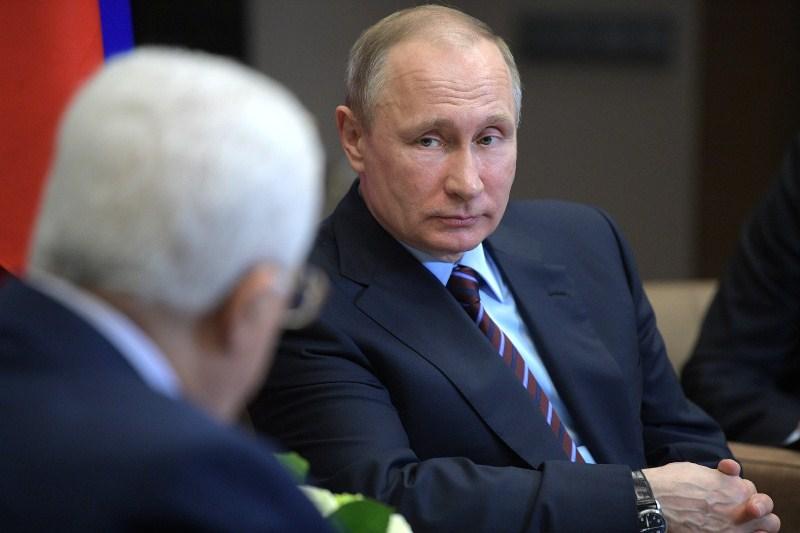 Махмуд Аббас и Владимир Путин (слева направо)