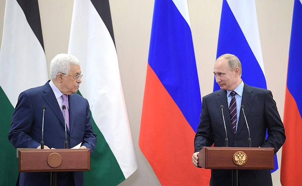 Махмуд Аббас и Владимир Путин