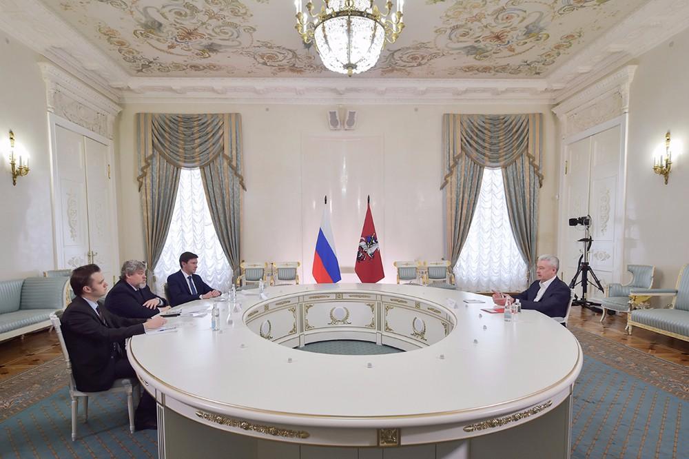 Сергей Собянин встречается с членами Общественной палаты Москвы