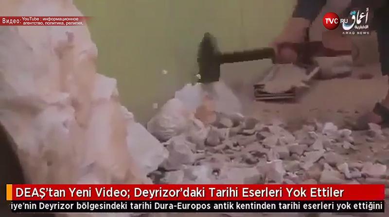 Разрушенные статуи в сирийском городе Пальмира
