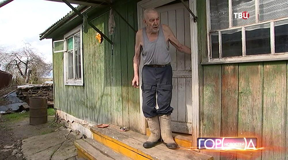Условия проживания ветерана ВОВ Владимира Ручкина