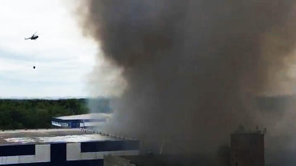 Пожар на складе в Лыткарине