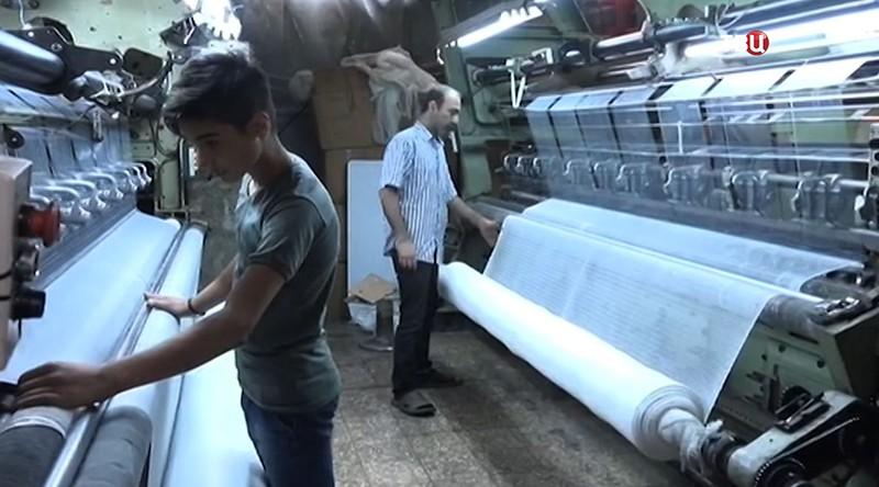 Цех по производству ткани в Восточном Алеппо