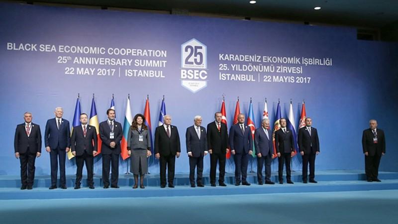 Совместное фотографирование глав делегаций стран-участниц Организации Черноморского экономического сотрудничества