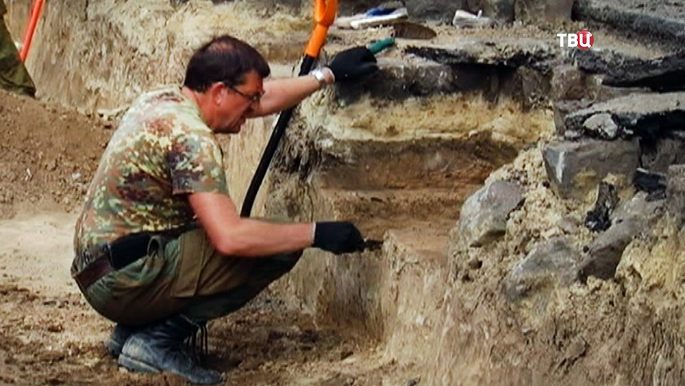 Археологические раскопки в городе