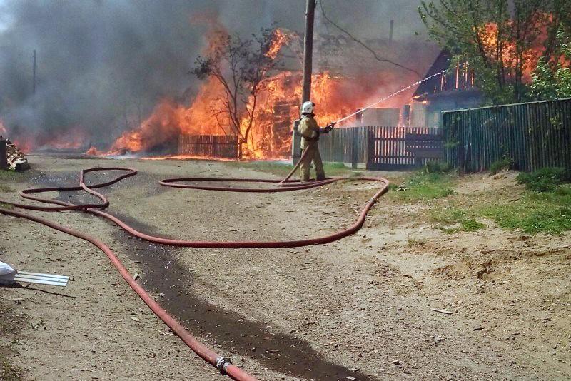 Пожар в Канске
