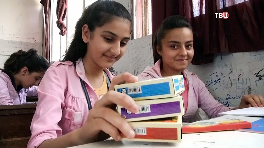 Гуманитарная помощь школьникам в Сирии