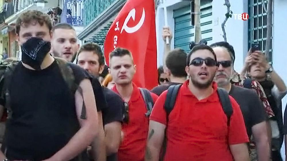 Митинг анархистов в Италии