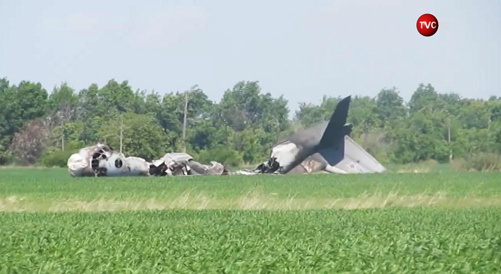 На месте крушения Ан-26 в Саратовской области