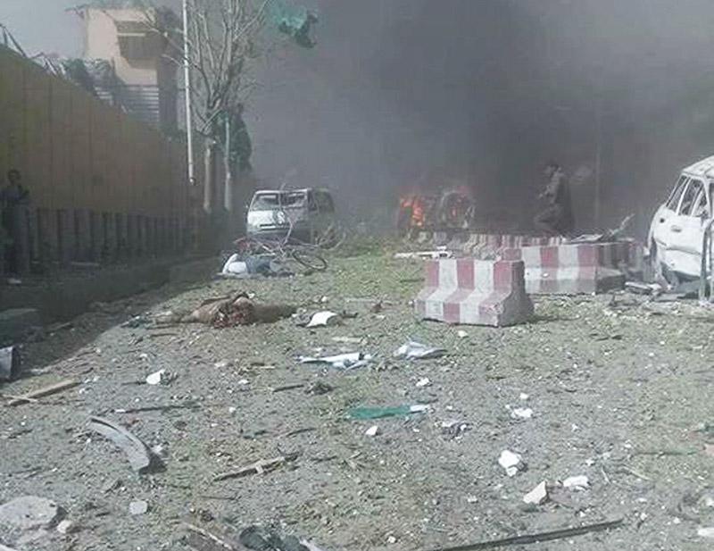 Взрыв у посольства Германии в Кабуле, Афганистан