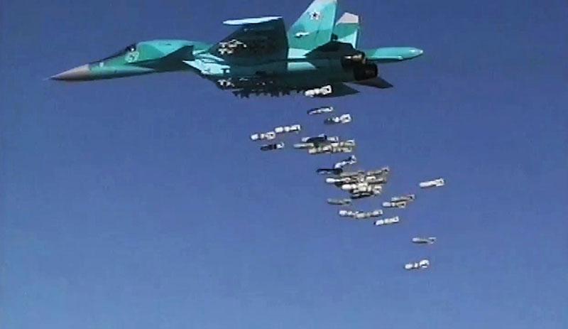 Бомбардировщик Су-34 ВКС России