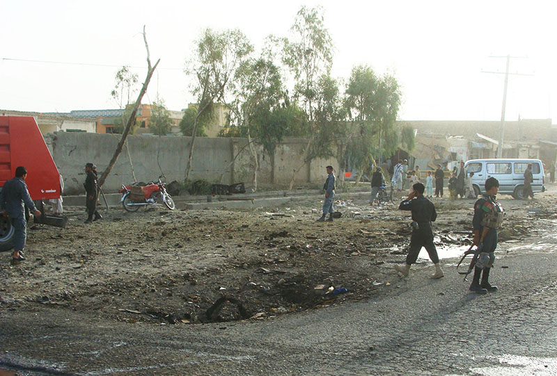На месте взрыва в Афганистане