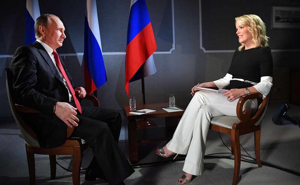 Владимир Путин дает интервью американскому телеканалу NBC News