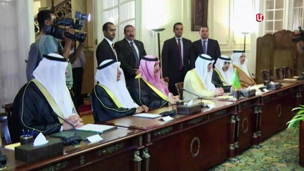 Представители Саудовской Аравии на переговорах