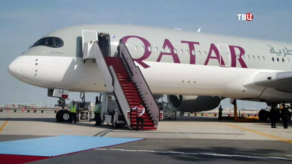 Самолет авиакомпании Катар