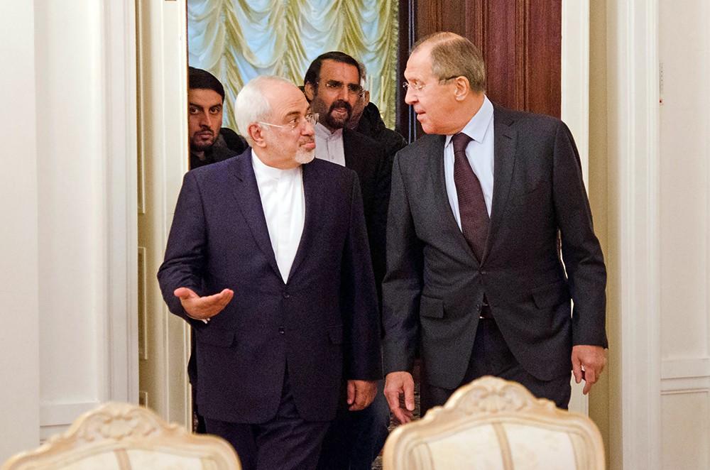 Глава МИД России Сергей Лавров и министр иностранных дел Ирана Мохаммад Джавад Зариф