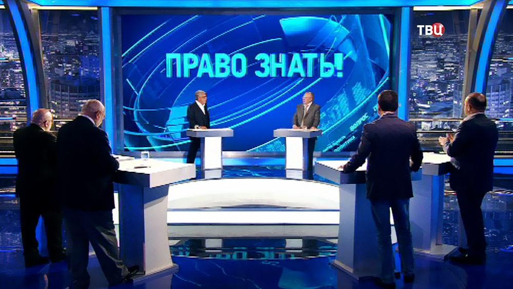 """Владимир Жириновский в студии программы """"Право знать!"""""""