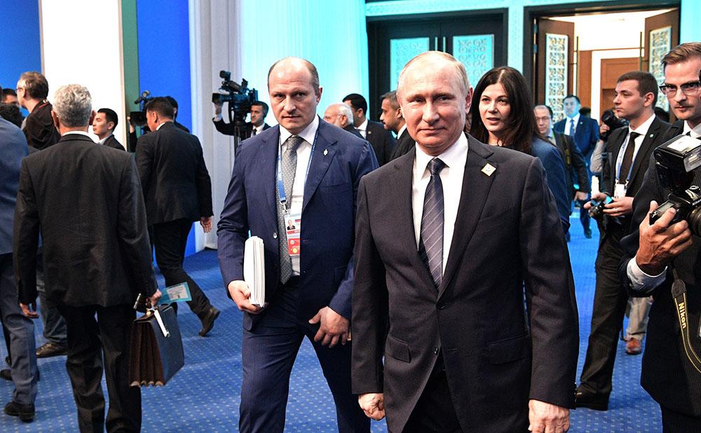 Президент России Владимир Путин на саммит ШОС