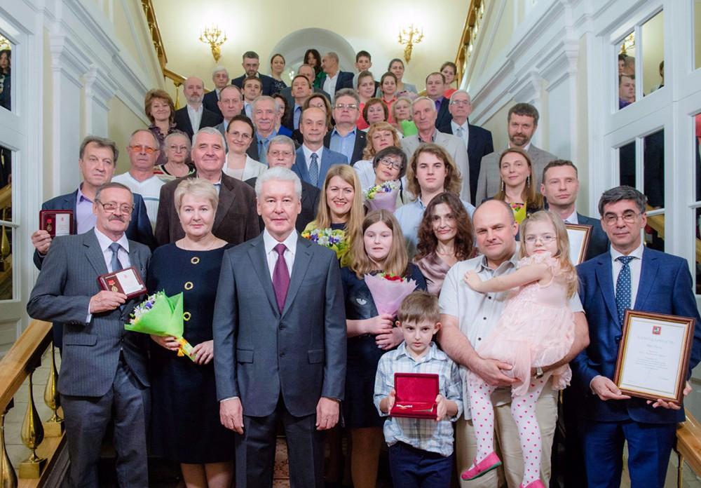 Сергей  Собянин на церемонии вручения госнаград и награды города Москвы жителям столицы