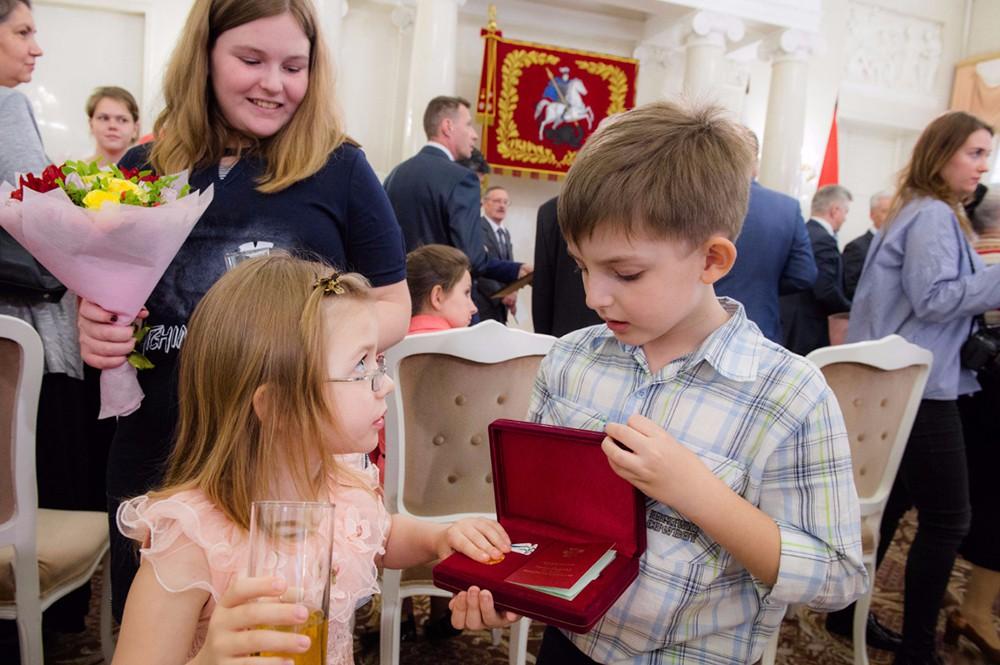 Церемония  вручения награды в мэрии Москвы