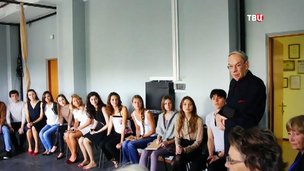 Алексей Баталов на занятиях со студентами