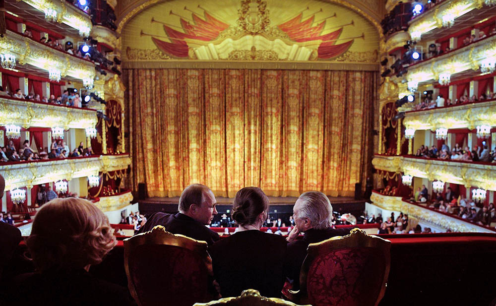 Президент России Владимир Путин и президент Бразилии Мишел Темер в Большом театре