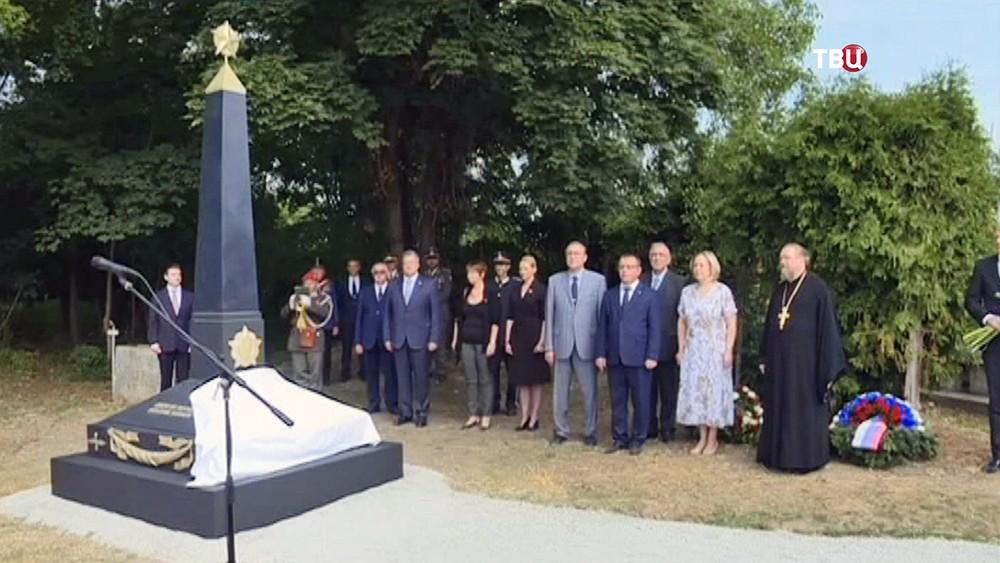 Открытие памятника советским воинам в Вене
