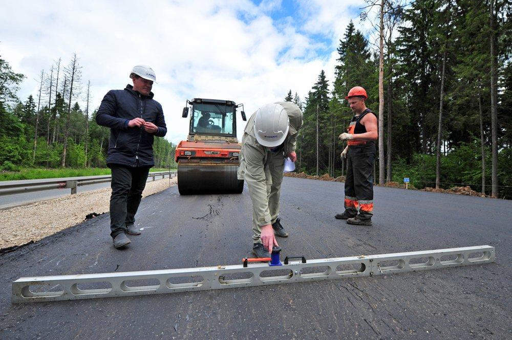 Дорожные работы по строительству ЦКАД