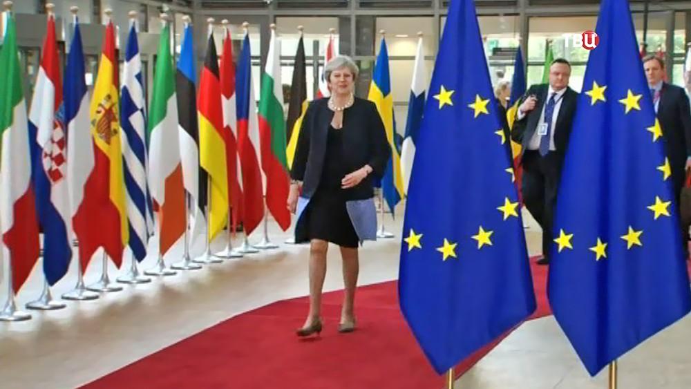 Премьер-министр Великобритании Тереза Мэй на саммите ЕС