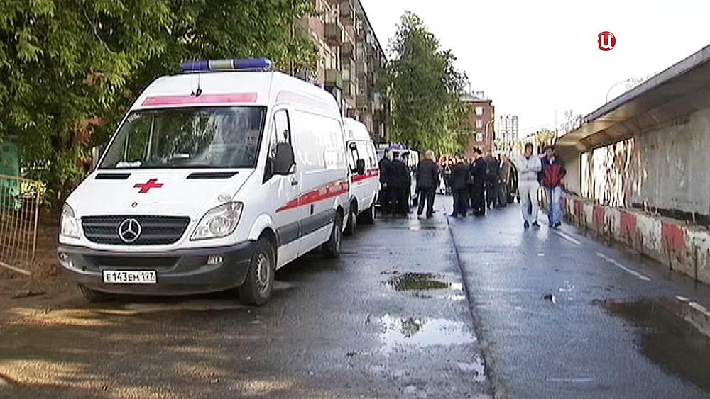 Скорая помощь на месте происшествия в Москве