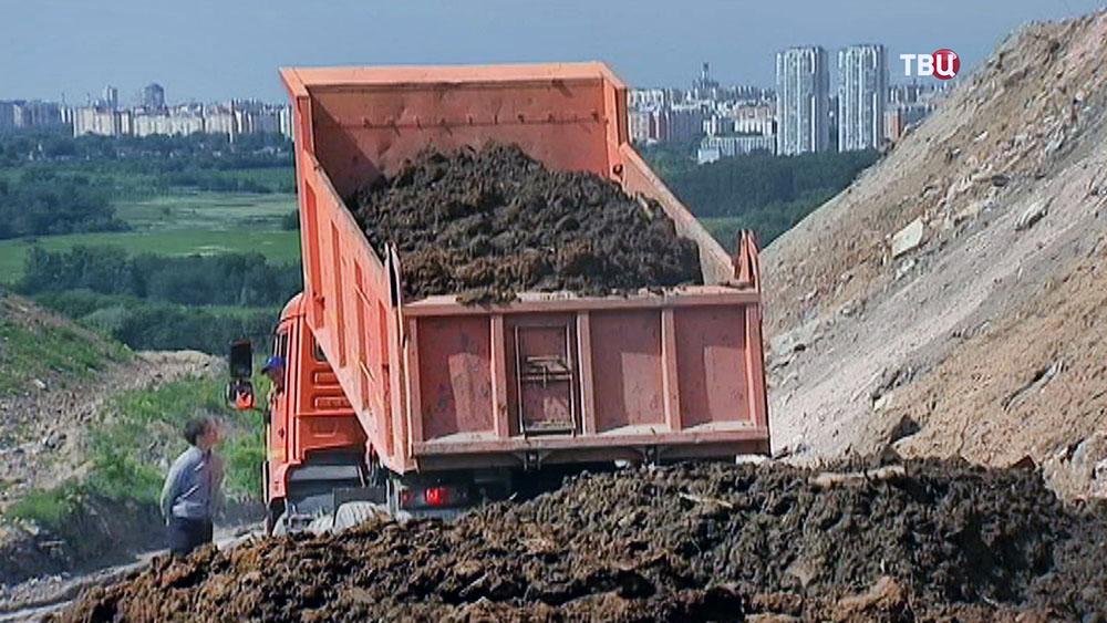 Кучинский мусорный полигон в Балашихе засыпают землёй