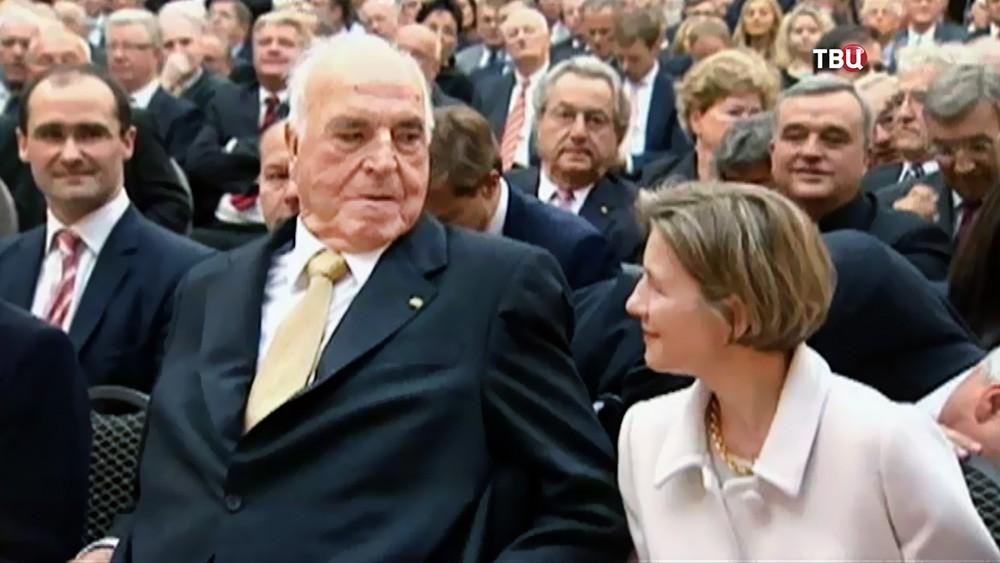 Гельмут Коль и супруга