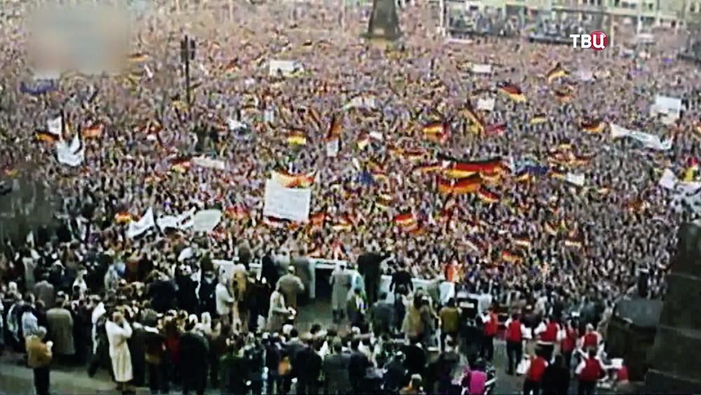 Обращение Гельмута Коля на митинге