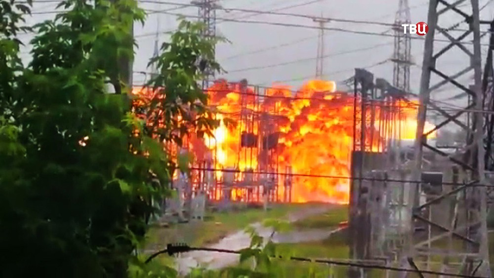 Взрыв на электроподстанции