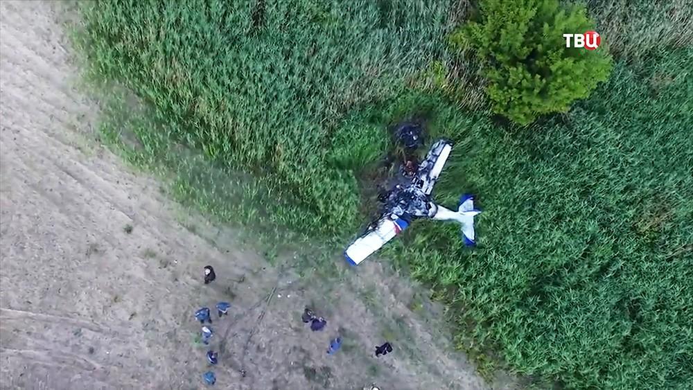 На месте падения самолета под Тамбовом