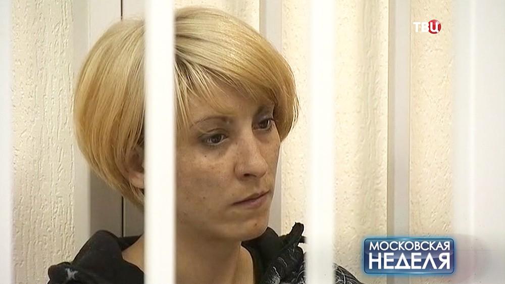 Ольга Алисова в зале суда