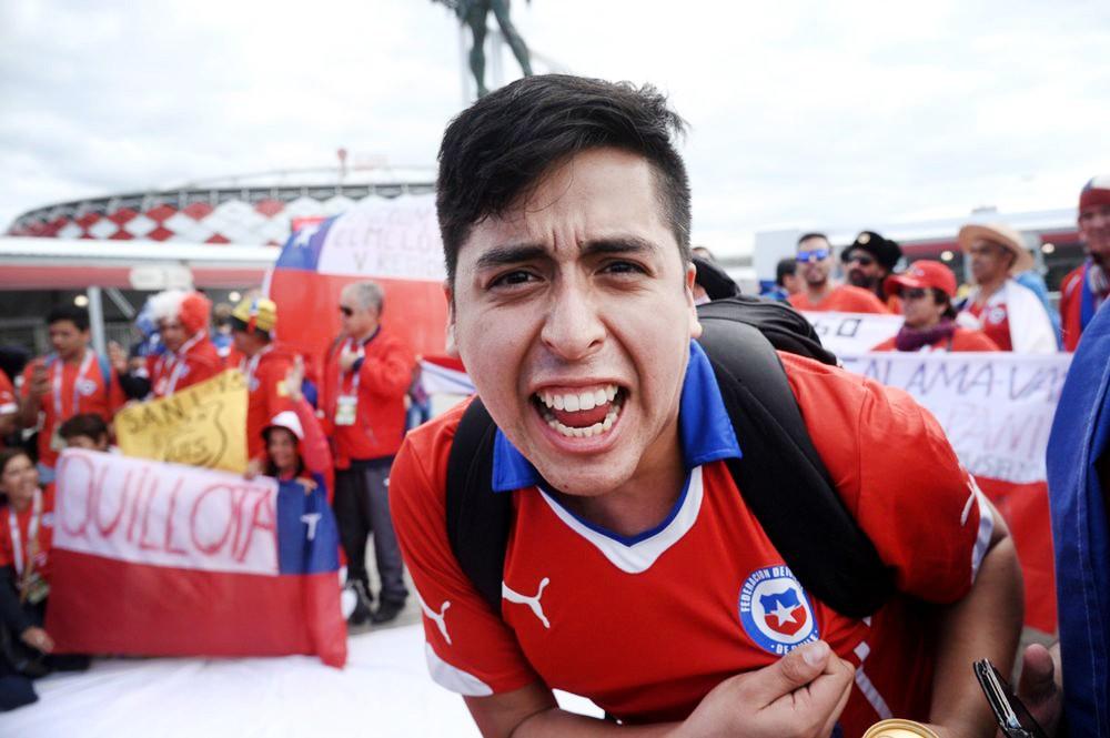 Болельщи сборной Чили