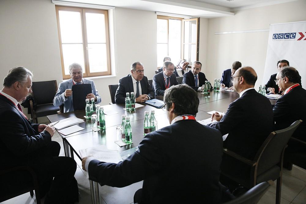 Глава МИД России Сергей Лавров на заседании в ОБСЕ